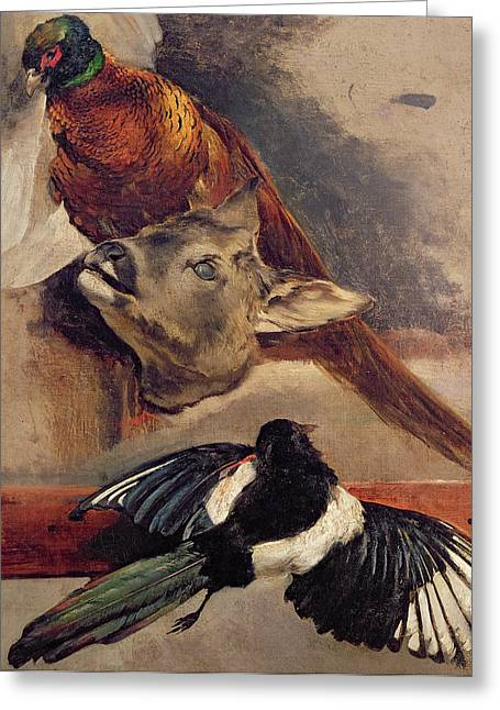 Gericault Greeting Cards - Still Life of Game Greeting Card by Theodore Gericault