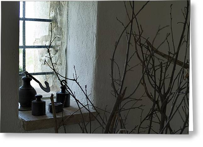 Chianti Greeting Cards - Still Life Of The Window Of A Villa Greeting Card by Todd Gipstein