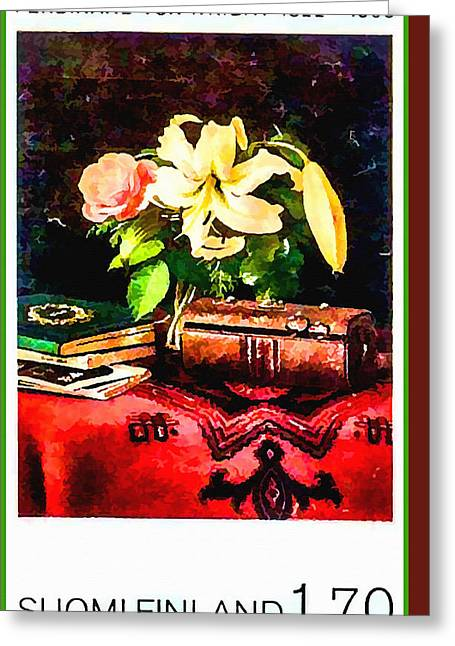 Still Life On A Lady's Work Table Greeting Card by Lanjee Chee