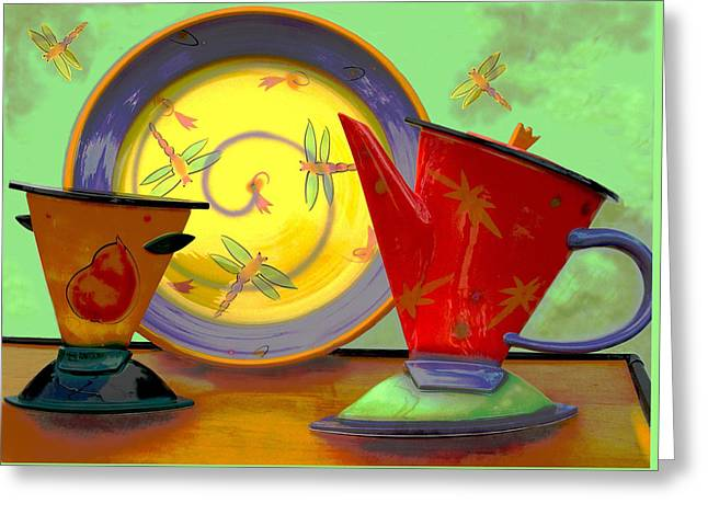 Still Life One Greeting Card by Jeff Burgess