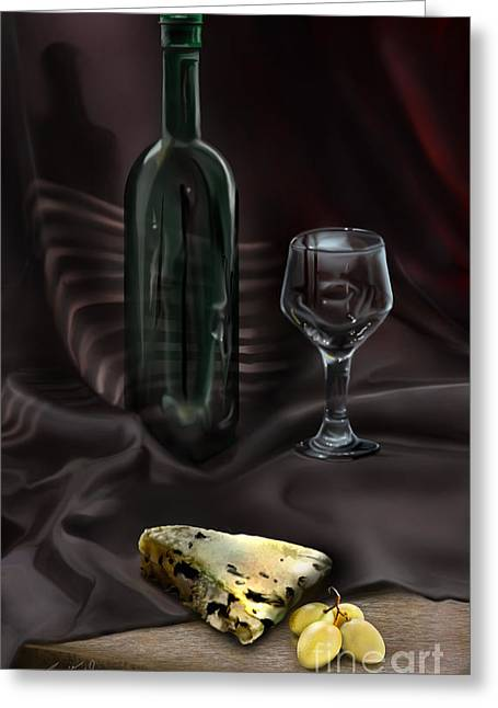 Table Wine Greeting Cards - Still Life Study Greeting Card by Reggie Duffie