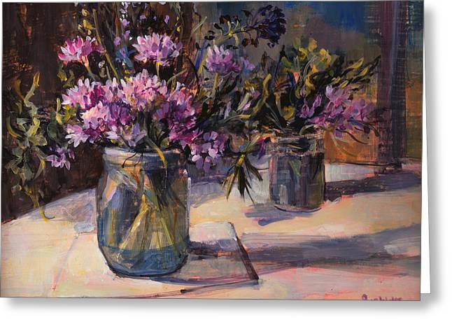 Still Life Greeting Card by Sue Wales