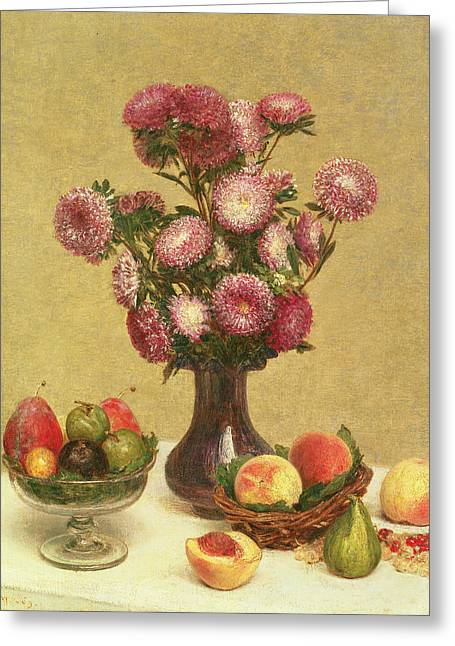 Still Life Greeting Card by Theodore Fantin-Latour