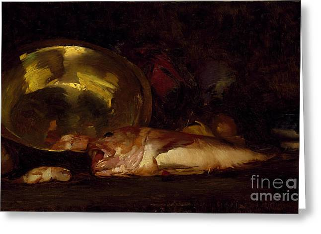 Merrit Greeting Cards - Still Life Greeting Card by William Merrit Chase