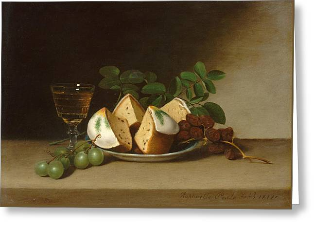 Still Life With Cake Greeting Card by Raphaelle Peale