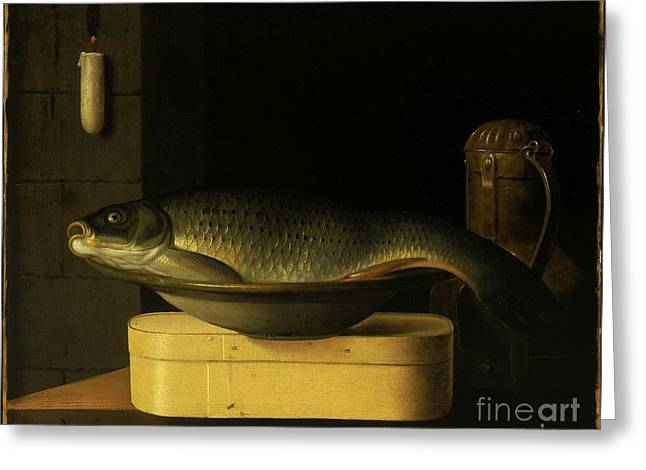 Still Life With Carp  Greeting Card by Nichon