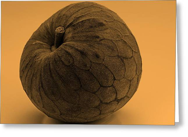 Cherimoya Photographs Greeting Cards - Still Life with Cherimoya Greeting Card by Viktor Savchenko