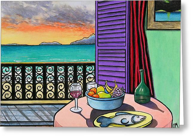 Still Life With Fish Greeting Card by Joe Michelli