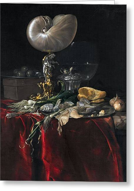 Still Life With Fish Greeting Card by Willem