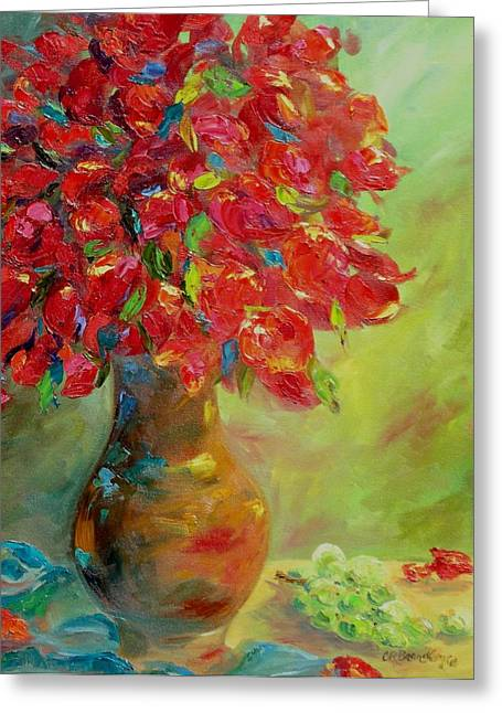 Vivid Color Palette Greeting Cards - Still Life with Flowers Greeting Card by Chris Brandley