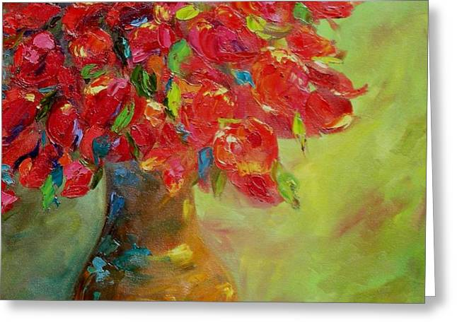 Still Life with Flowers Greeting Card by Chris Brandley