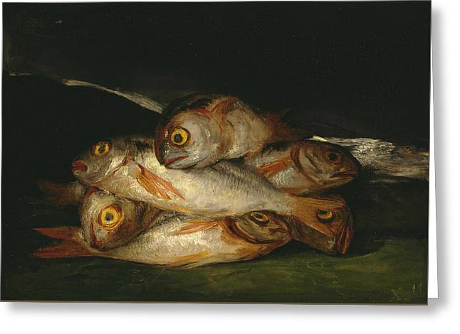 Still Life With Golden Bream Greeting Card by Francisco Goya