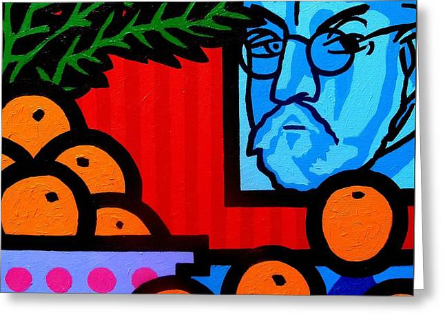Still Life With Henri Matisse Greeting Card by John  Nolan