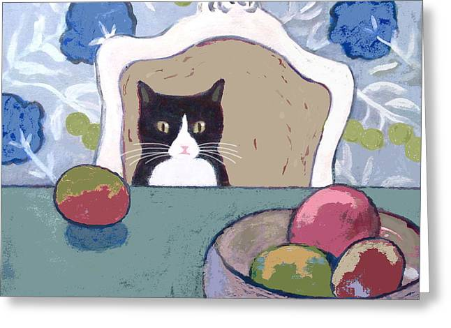 Mango Greeting Cards - Still Life with Henry Greeting Card by Kazumi Whitemoon