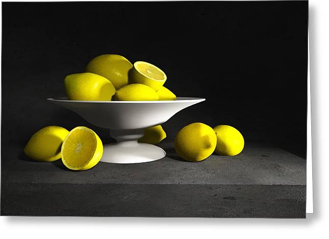 Pear Prints Greeting Cards - Still Life with Lemons Greeting Card by Cynthia Decker