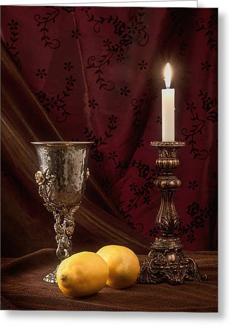 Chalice Greeting Cards - Still Life with Lemons Greeting Card by Tom Mc Nemar
