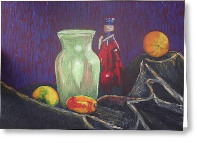 Mango Greeting Cards - Still-life with mangoes Greeting Card by Iryna Ivanova