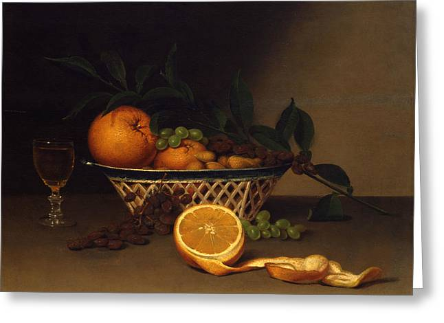 Still Life With Oranges Greeting Card by Raphaelle Peale