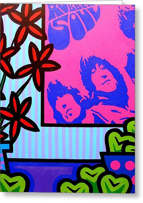 Beatles Canvas Greeting Cards - Still Life With The Beatles Greeting Card by John  Nolan