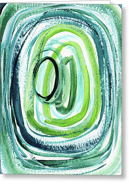 Still Orbit 9- Abstract Art By Linda Woods Greeting Card by Linda Woods