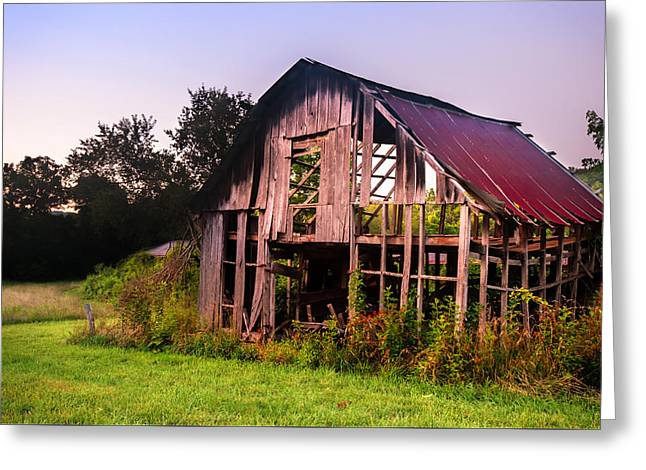 Red Roofed Barn Greeting Cards - Still Standing Greeting Card by Gregory Ballos
