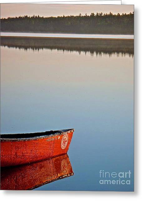 Canoe Photographs Greeting Cards - Still Water in Maine Greeting Card by Michael Cinnamond