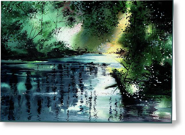 Stillness Speaks 2 Greeting Card by Anil Nene