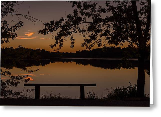 Stillness Speaks Lake Horicon Nj Greeting Card by Terry DeLuco
