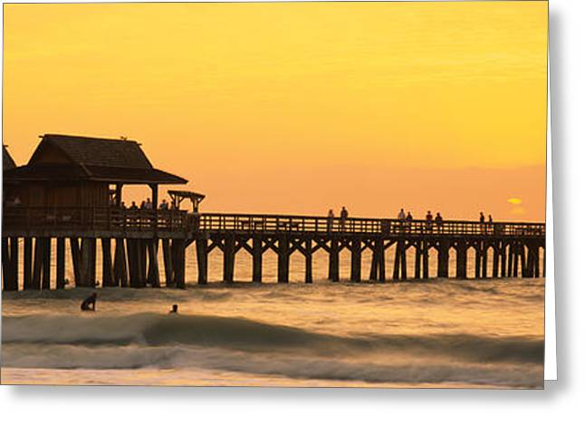 Stilt Houses On The Pier, Gulf Greeting Card by Panoramic Images