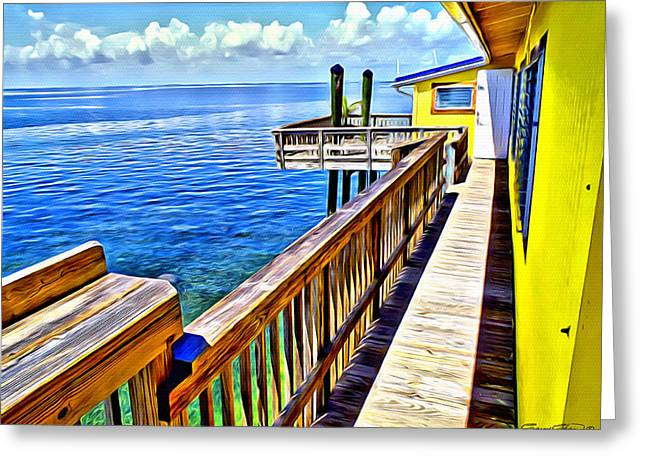 Stiltsville House Greeting Card by Anthony C Chen