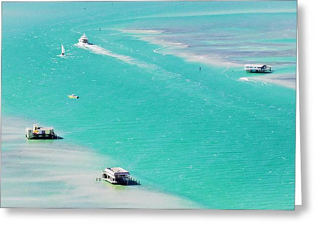 Biscayne Bay Greeting Cards - Stiltsville Greeting Card by Patrick M Lynch