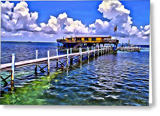 Stiltsville View Greeting Card by Anthony C Chen