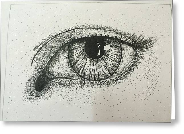 Stippling Paintings Greeting Cards - Stippling art Greeting Card by Preety Chauhan