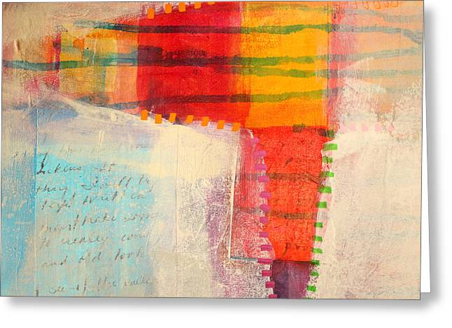 Bold Contrast Greeting Cards - Stitched Life Greeting Card by Nancy Merkle