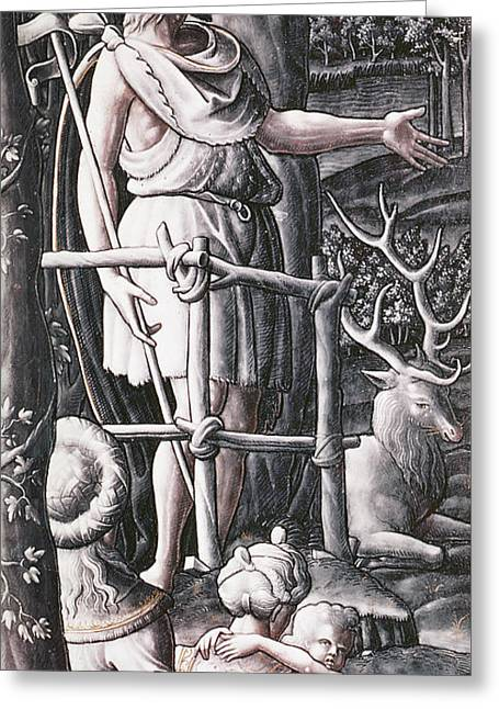 St.john The Baptist Preaching In The Wilderness Greeting Card by Unknown