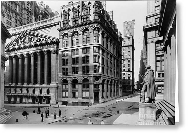 Aerial View Greeting Cards - STOCK EXCHANGE, c1908 Greeting Card by Granger