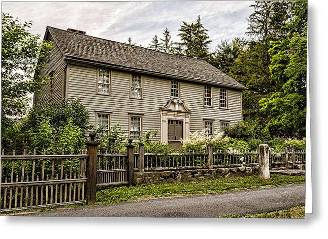 Colonial Architecture Greeting Cards - Stockbridge Mission House Greeting Card by Stephen Stookey