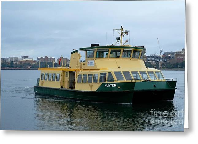 Stockton Greeting Cards - Stockton Ferry Greeting Card by David Watson