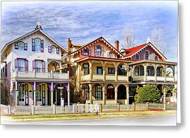 Stockton Greeting Cards - Stockton Row Cottages Greeting Card by Carolyn Derstine