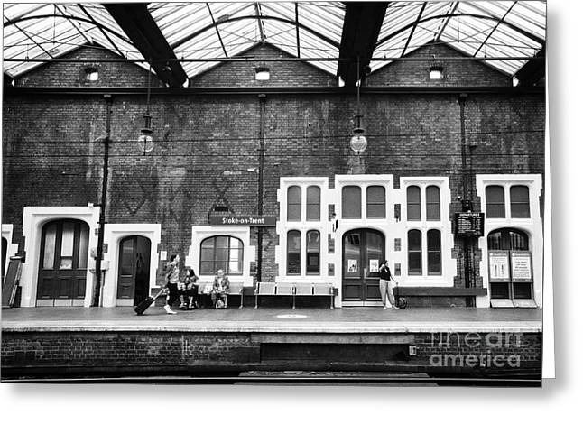 Trent Greeting Cards - Stoke-on-trent railway station uk Greeting Card by Joe Fox