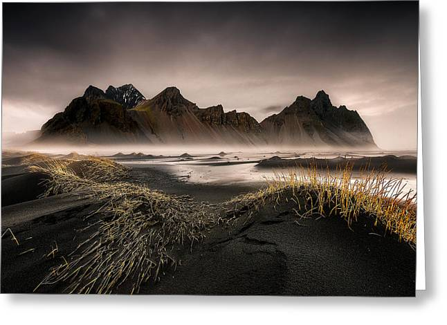 Iceberg Greeting Cards - Stokksnes Greeting Card by David Martin Castan