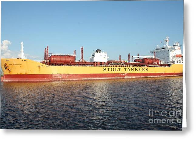 Owner Greeting Cards - Stolt Tanker Greeting Card by John Telfer