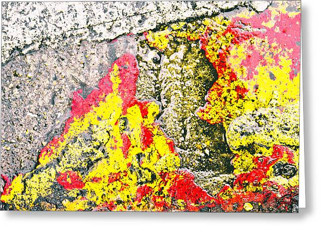 Border Photographs Greeting Cards - Stone abstract Greeting Card by Tom Gowanlock