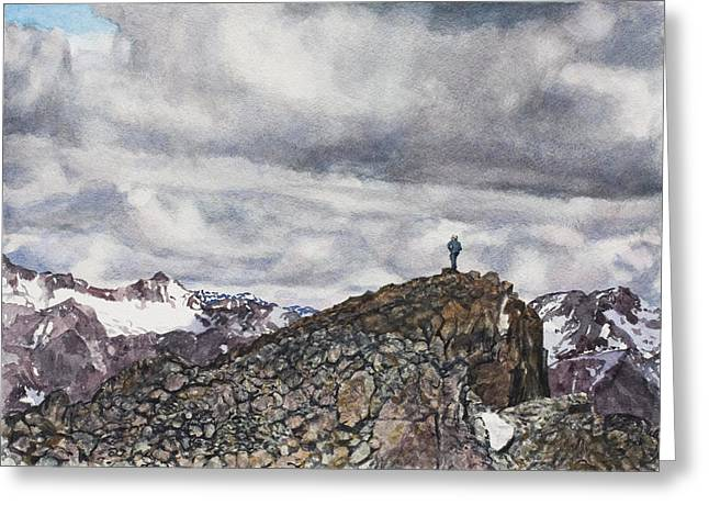 Mountain Climbing Greeting Cards - Stone and Air Greeting Card by Perry Woodfin