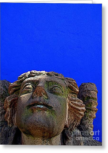 Guadalajara Greeting Cards - Stone Angel 2 Greeting Card by Olden Mexico