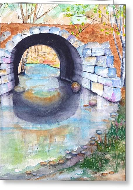 Stone Arch Bridge Dunstable Greeting Card by Carlin Blahnik