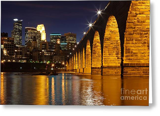 Stones Greeting Cards - Stone Arch Bridge Greeting Card by Tammy Wolfe