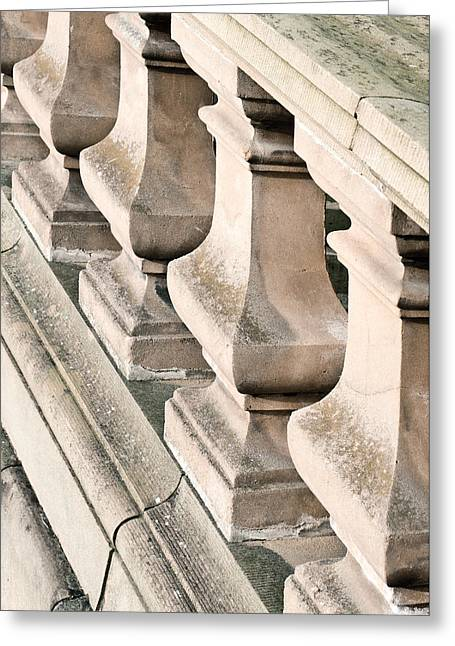 Stone Bannister Greeting Card by Tom Gowanlock