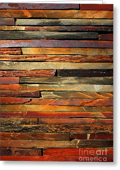 Dark Red Greeting Cards - Stone Blades Greeting Card by Carlos Caetano