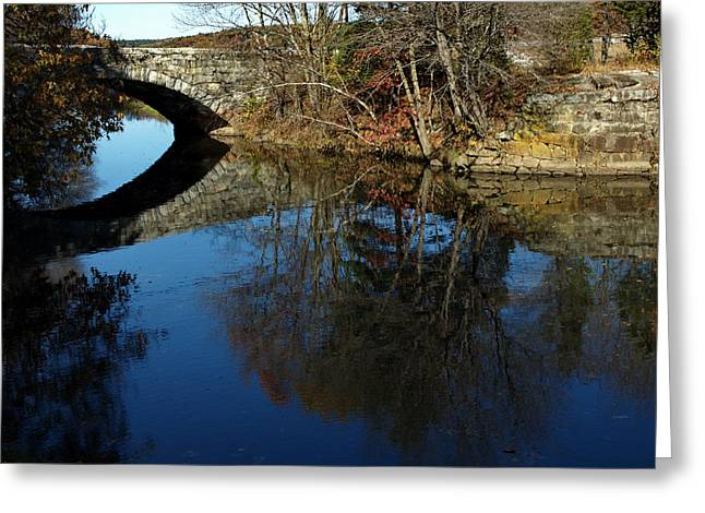 Blackstone River Greeting Cards - Stone Bridge Greeting Card by Barry Doherty